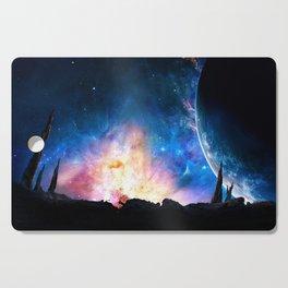over the galaxy Cutting Board