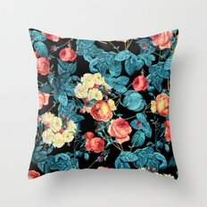 NIGHT FOREST XII Throw Pillow