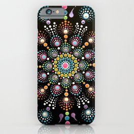 Bright Happy Dot Mandala iPhone Case