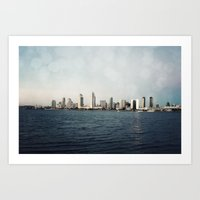 san diego Art Prints featuring San Diego  by Bree Madden