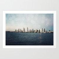 san diego Art Prints featuring San Diego  by Bree Madden