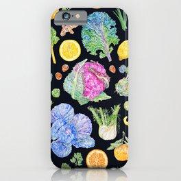 Winter Harvest Pattern Dark iPhone Case