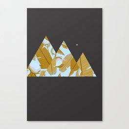 Tropical Leaves & Geometry Canvas Print