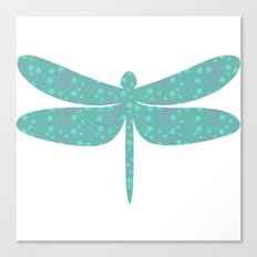 pattern with dragonfly Canvas Print