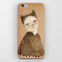 kiki iPhone & iPod Skins featuring Kiki Kitty by Irena Sophia