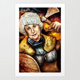 """Picture it: Sicily 1061"" Golden Girls- Bea Arthur Art Print"