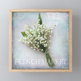 french market Framed Mini Art Print