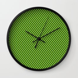 Dragon Scales Pattern - Green Wall Clock