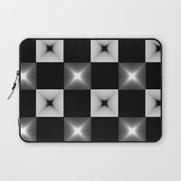 Black And White Illusion Pattern Laptop Sleeve