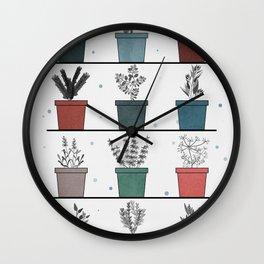 HERBS POSTER Wall Clock