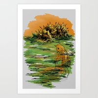 The One With Sunflowers And a Goldfish Art Print