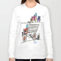pocket fuel Long Sleeve T-shirts featuring Taking on Fuel by Ryan van Gogh