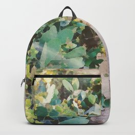 Calm Tropical Path Watercolor Painting Backpack