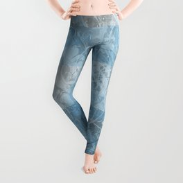 Abstract blue pattern Leggings