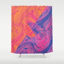 Abstract Orange/Purple Shower Curtain