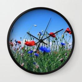 poppy flower no12 Wall Clock