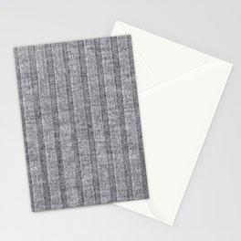 Soft Grey Jersey Knit Pattern Stationery Cards