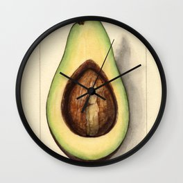 Botanical Avocado Wall Clock