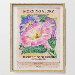 Morning Glory Seed Pack Serving Tray