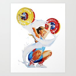 Bulking is a Feminist Act: Mattie Art Print