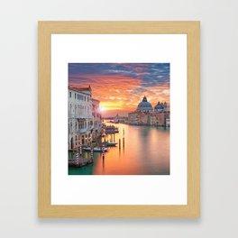 VENICE AT SUNRISE Framed Art Print