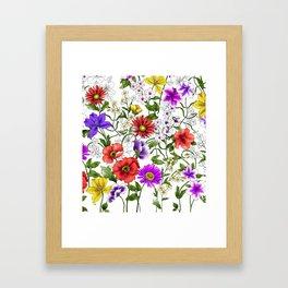 Watercolor Botanical Border Framed Art Print