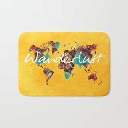 world map 123 wanderlust #wanderlust #map Bath Mat