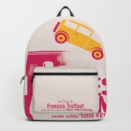 Jules et Jim, François Truffaut, minimal movie Poster, Jeanne Moreau, french film, nouvelle vague Backpack