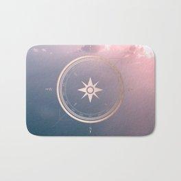 The Edge of Tomorrow - Rosegold Compass Bath Mat