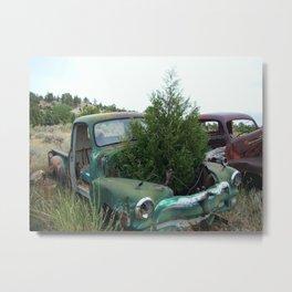 A tree grows in it ..Scenes from a Junkyard  Metal Print