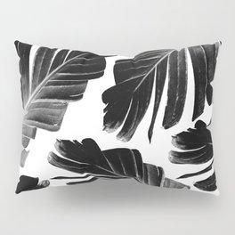 Tropical Black Banana Leaves Dream #1 #decor #art #society6 Pillow Sham