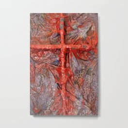 Red Cross Metal Print