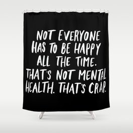Mental Health Shower Curtain