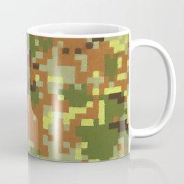 Pixel Camouflage Oil Painting Coffee Mug