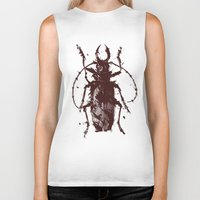 beetle Biker Tanks featuring Beetle by Bearded Hunter