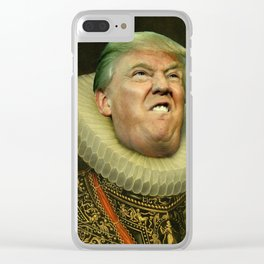 Trump painting face-swap Clear iPhone Case