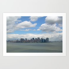View from Lady Liberty Art Print