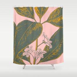 Modern Botanical Banana Leaf Shower Curtain