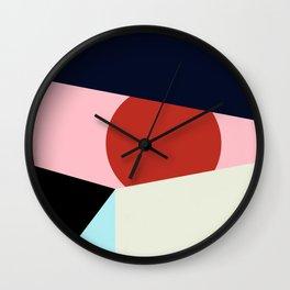 Circle Series - Red Circle No. 1 Wall Clock