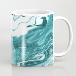 Yumiko - spilled ink painting abstract minimal ocean wave water sea monochromatic trendy hipster art Coffee Mug