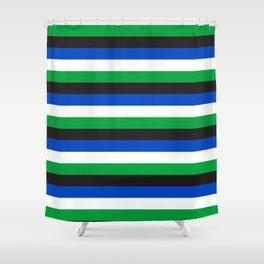 Torres Strait Islander flag stripes Shower Curtain
