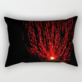 Red particle waves Rectangular Pillow