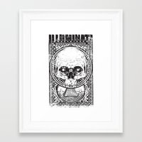 illuminati Framed Art Prints featuring Illuminati by Tshirt-Factory