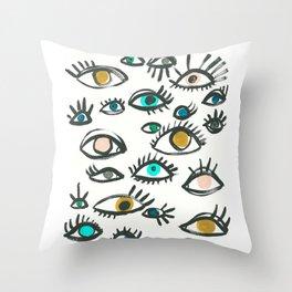 Pop Eyes Throw Pillow
