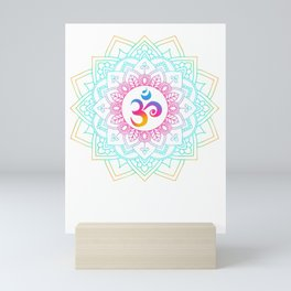 Om Meditations Mandalas Yoga Unisex T-Shirt Mini Art Print