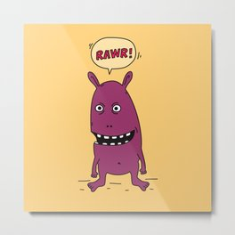 Rawr! Monster! Metal Print