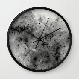 Space Without Colour - Black And White Painting Wall Clock
