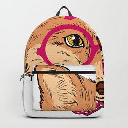 Elegant Fox Man Backpack