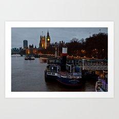 London in the nigth Art Print