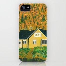 Maison jaune iPhone Case